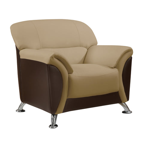 Global U9103-CAPP/CHOC-CH Chair in Cappucino & Chocolate