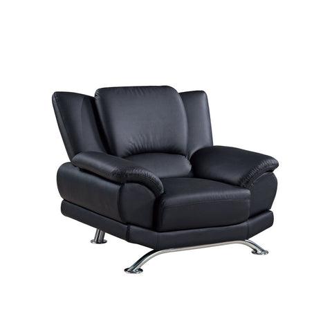 Global USA 9908 Bonded Leather Chair in Black