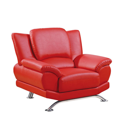 Global USA 9908 Bonded Leather Chair in Red