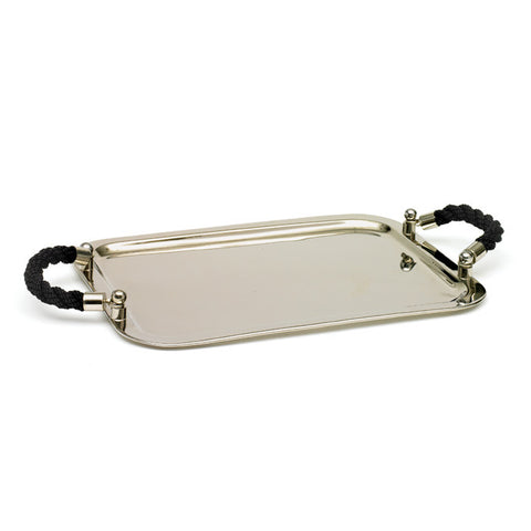 Go Home Black Rope Handled Tray