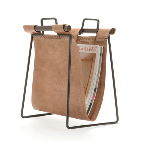 Go Home Iron And Leather Magazine Rack