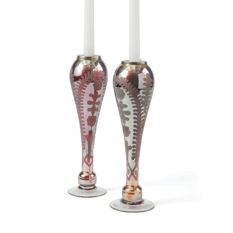 Go Home Pair of Tear Drop Candleholders