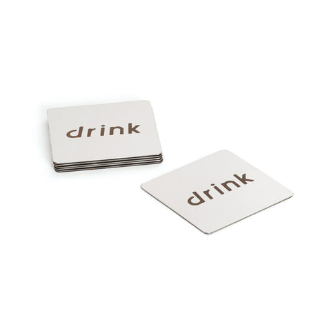 "Go Home Set Of Six ""Drink"" Coasters"