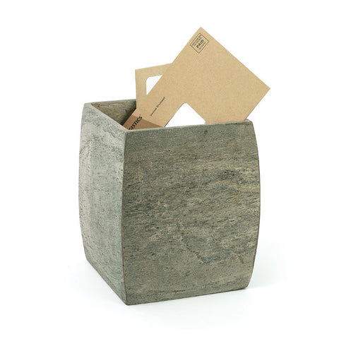 Go Home Slate Waste Basket