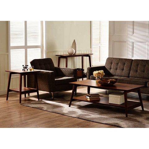 Greenington Antares 2 Piece Coffee Table Set in Exotic Bamboo