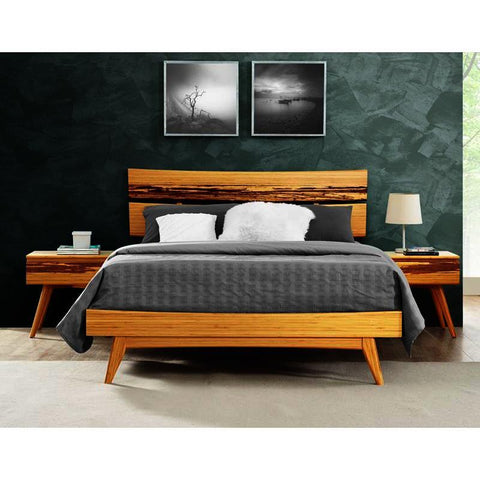 Greenington Azara 3 Piece Platform Bedroom Set in Caramelized