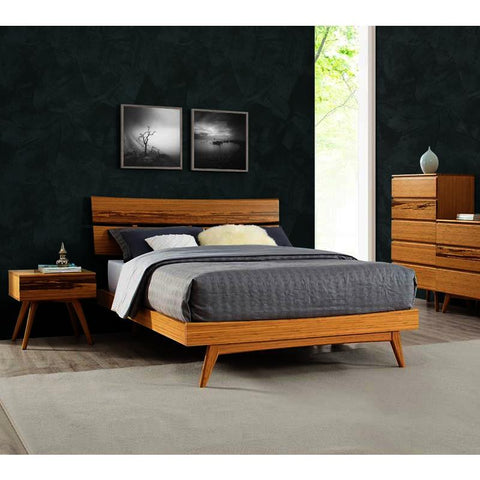 Greenington Azara 4 Piece Platform Bedroom Set in Caramelized