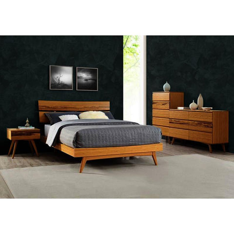 Greenington Azara 5 Piece Platform Bedroom Set in Caramelized