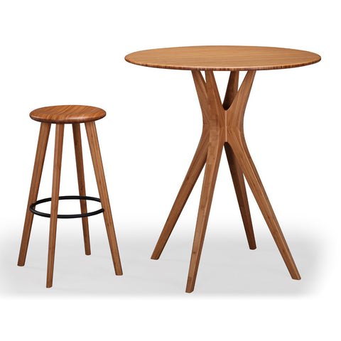 Greenington Mimosa 3 Piece Round Pub Table Set