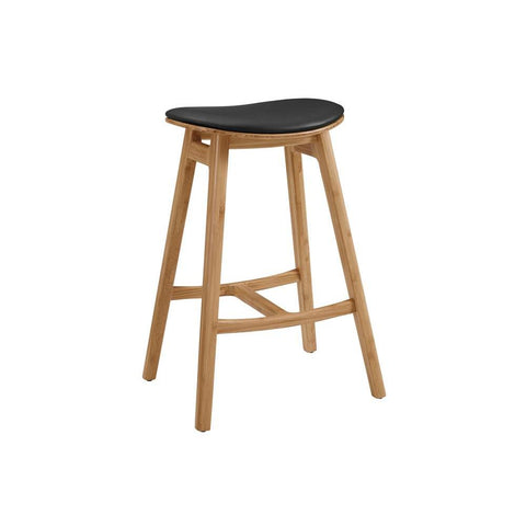 "Greenington Skol 30"" Bar Height Stool With Leather Seat, Caramelized, (Set of 2)"