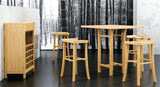 Greenington Tulip 5 Piece Bar Height Table Set in Classic Bamboo