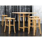 Greenington Tulip 5 Piece Counter Height Table Set in Classic Bamboo