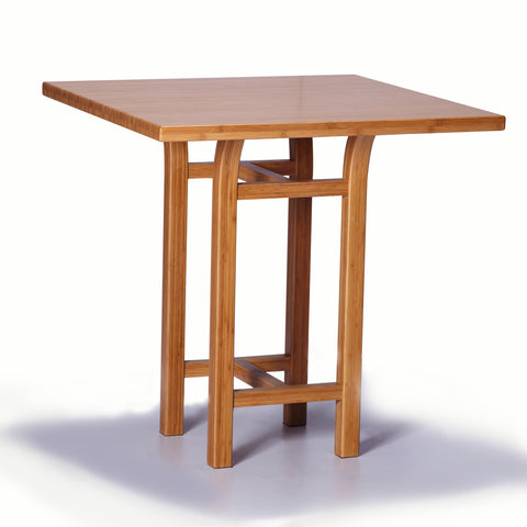 Greenington Tulip Bar Height Table in Classic Bamboo