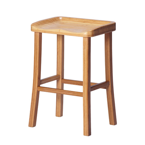 Greenington Tulip Counter Height Stool in Classic Bamboo (Set of 2)