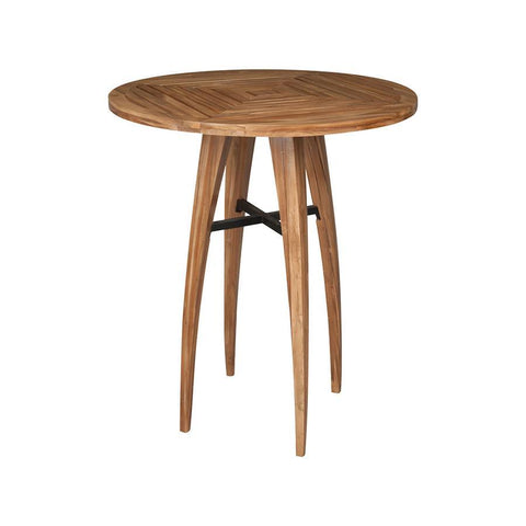 Guild Master 7117004ET Teak Wood Bistro Table In Euro Teak Oil