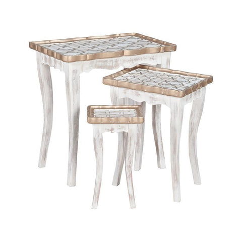 Guild Master 715056S Saber Nesting Tables In Front Porch White
