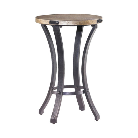 Hammary 090-370 Hidden Treasures Round Accent Table w/ Stone Top