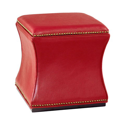 Hammary 090-425 Hidden Treasures Storage Cube in Red