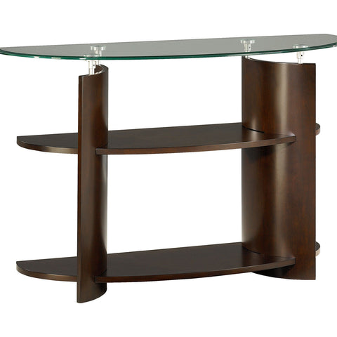 Hammary Apex Sofa Table in Dark Cherry
