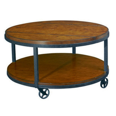 Hammary Baja Round Cocktail Table w/ Casters