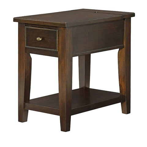 Hammary Boulevard Charging Chairside Table