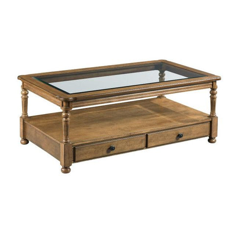 Hammary Candlewood-The Hamilton Rectangular Drawer Cocktail Table