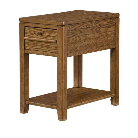 Hammary Chairsides Downtown Chairside Table in Oak