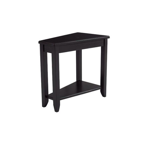 Hammary Chairsides Wedge Chairside Table in Black