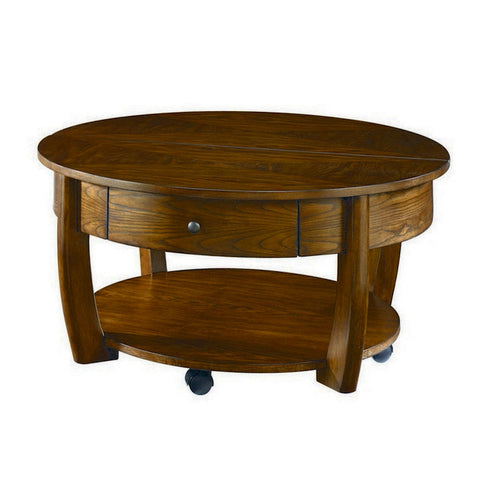 Hammary Concierge Round Cocktail Table w/ Casters