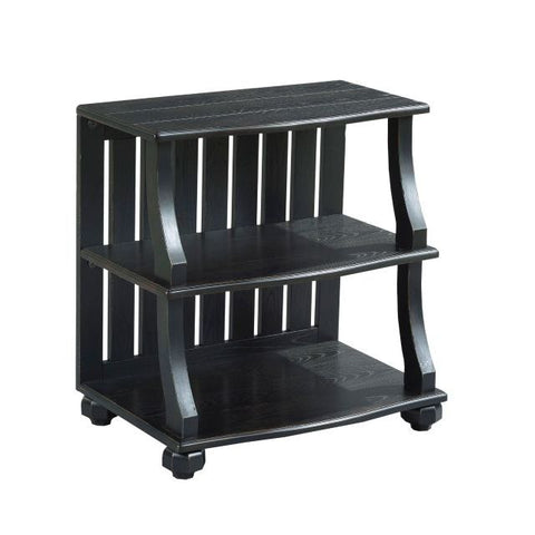 Hammary Elm Ridge Open Chairside Table in Black