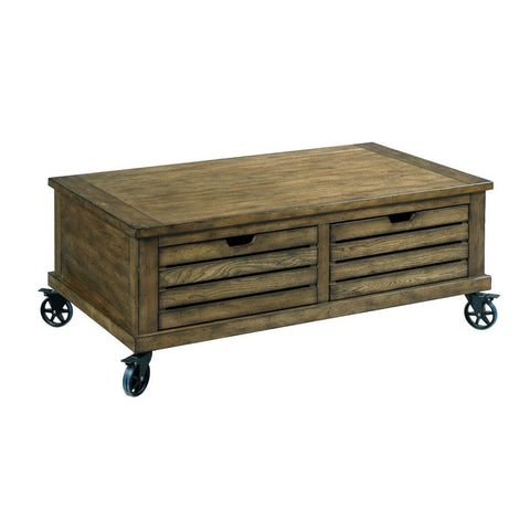 Hammary Elm Ridge Rectangular Storage Cocktail Table