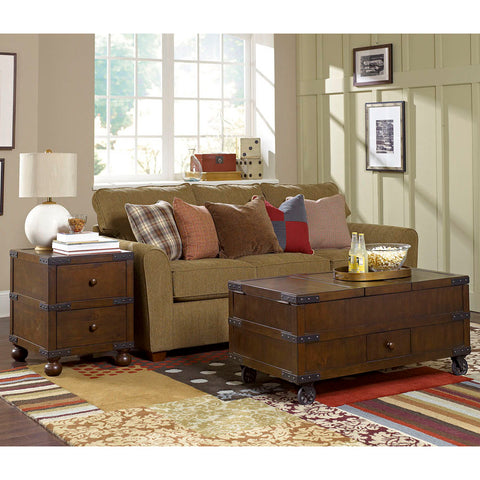 Hammary Hidden Treasures 2 Piece Trunk Coffee Table Set