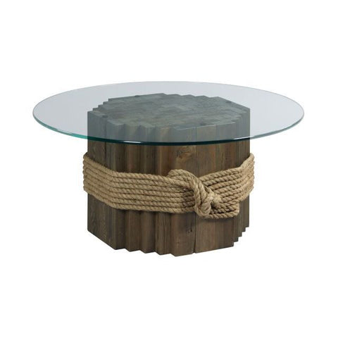Hammary Hidden Treasures Rope/Wood Cocktail Table