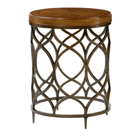 Hammary Hidden Treasures Round Lamp Table