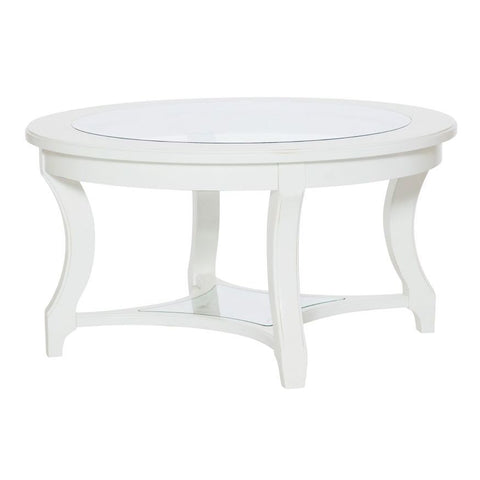 Hammary Lynn Haven Round Glass Cocktail Table