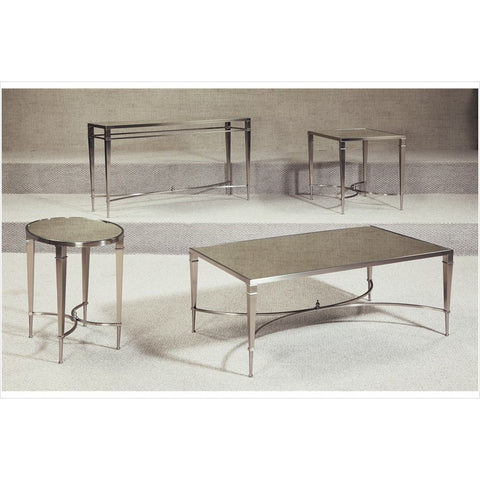 Hammary Mallory Mirror Top Coffee Table Set