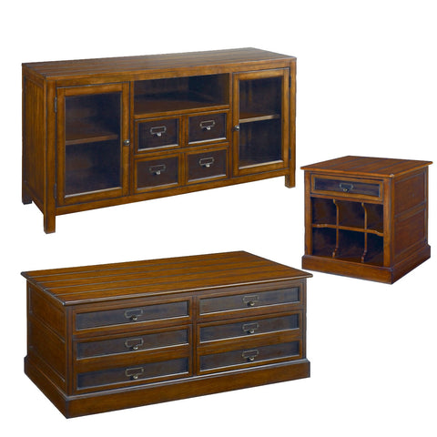 Hammary Mercantile 3 Piece Storage Coffee Table Set