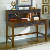 Hammary Mercantile Desk Hutch in Whiskey