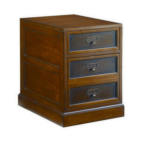 Hammary Mercantile Rolling Filing Cabinet in Whiskey