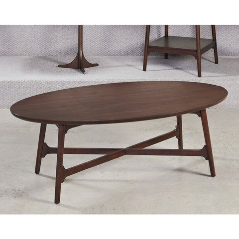 Hammary Mila Oval Cocktail Table in Burnished Copper