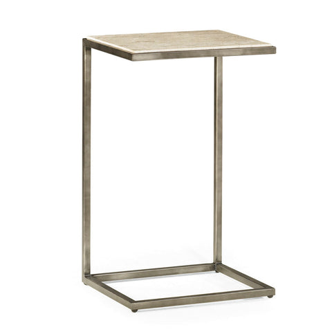 Hammary Modern Basics Accent Table w/ Textured Bronze Base