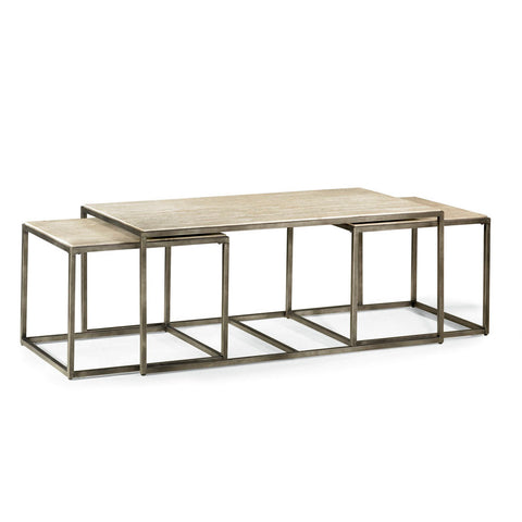 Hammary Modern Basics Rectangular Cocktail Table w/Textured Bronze Base