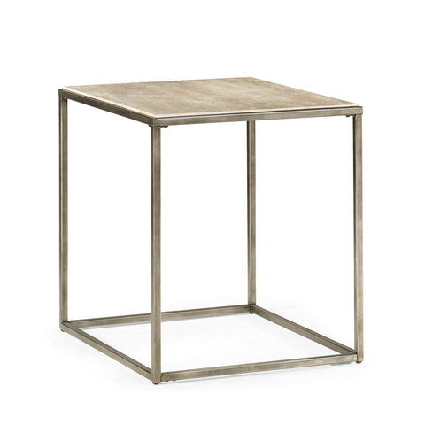 Hammary Modern Basics Rectangular End Table w/ Textured Bronze Base