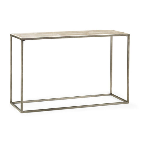 Hammary Modern Basics Sofa Table w/ Textured Bronze Base
