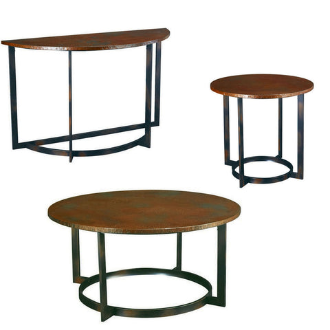 Hammary Nueva Round Coffee Table Set