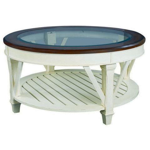 Hammary Promenade Round Glass Top Cocktail Table