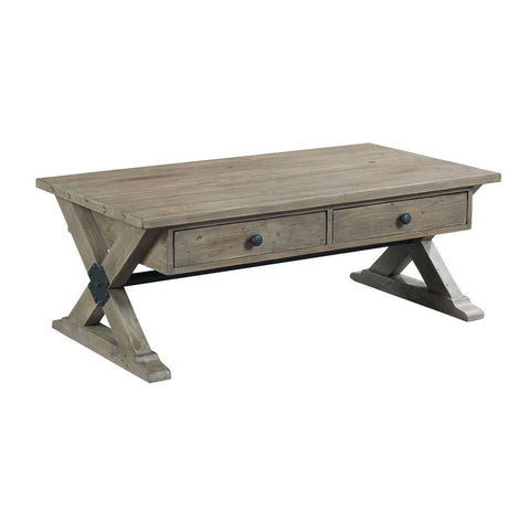 Hammary Reclamation Place Trestle Rectangular Cocktail Table