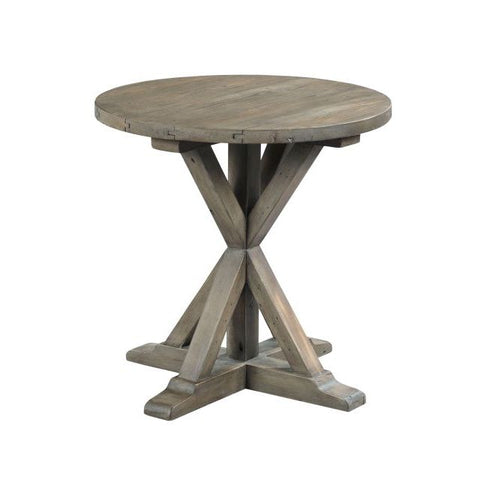 Hammary Reclamation Place Trestle Round End Table
