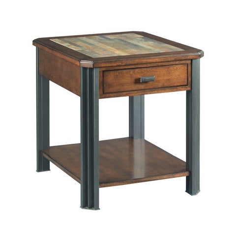 Hammary Slaton-The Hamilton Rectangular Drawer End Table