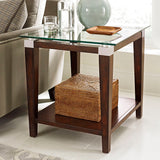 Hammary Solitaire Rectangular End Table in Rich Dark Brown